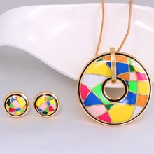 New Luxury Brand Vintage Color Design for Women Jewelry Sets Elegant Classic Costume Enamel Jewelry Set  (Necklace, Earring)
