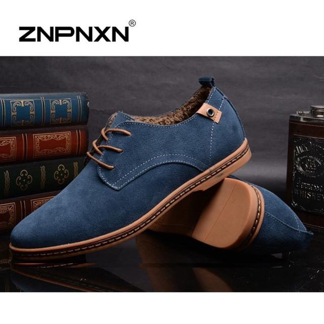 Tamaño grande 48 de Invierno Para Hombre Botas Casuales Botines de Cuero de Calidad para Los Hombres Zapatos de Los Planos de Piel Botas de Nieve Hombres Zapatos Hombre 2015