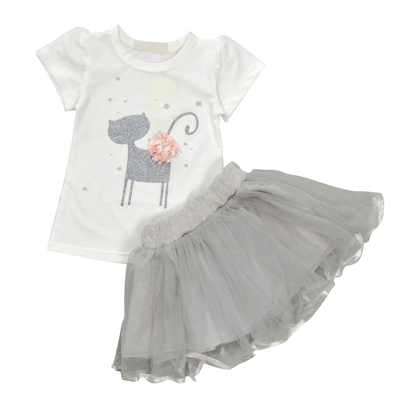 4d80b398a Dropwow Girls 2018 Summer New Baby Girls Clothing Sets Fashion Style ...