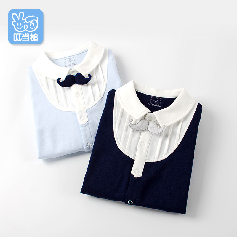 Dinstry New born Rompers Clothing Spring handsome bowtie Baby Costumes Infant Boys one-piece mother nest 3sets lot wholesale autumn toddle girl long sleeve baby clothing one piece boys baby pajamas infant clothes rompers