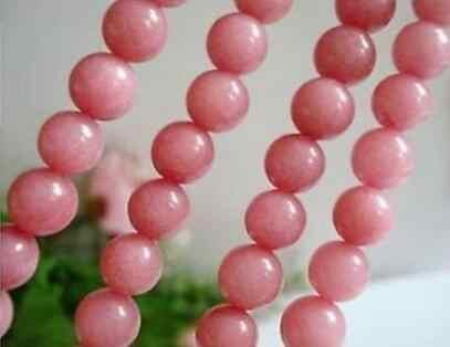 8 мм розовый круглый камень свободные шарики 15''