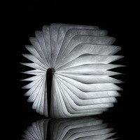 AIMIHUO LED luce del Libro libro creativo tipo di legno lampada LED Pieghevole Pagine Nightlight USB Ricaricabile L Size novità Luce del Libro-in Luci da libro da Luci e illuminazione su