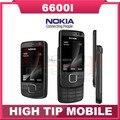 Teléfono móvil Nokia 6600I, slider abrió 6600i teléfono de cuádruple banda FM bluetooth 5MP JAVA reformado