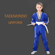 Professional Taekwondo Uniform Adult and Children Dobok Embroidery Pattern Uniforms long sleeve unisex Clothing T