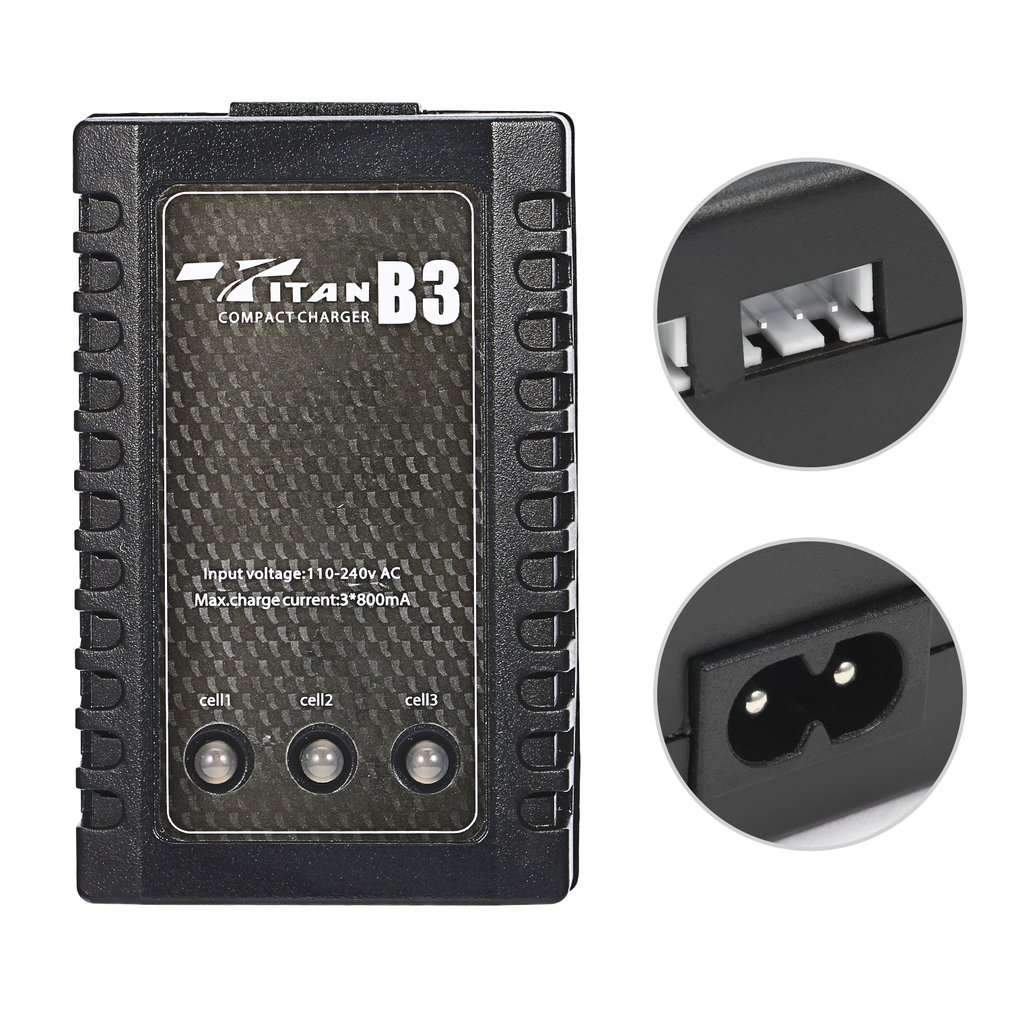 RC LIPO akumulatora lādētājs B3 7.4v 11.1v Li-polimēra - Tālvadības rotaļlietas