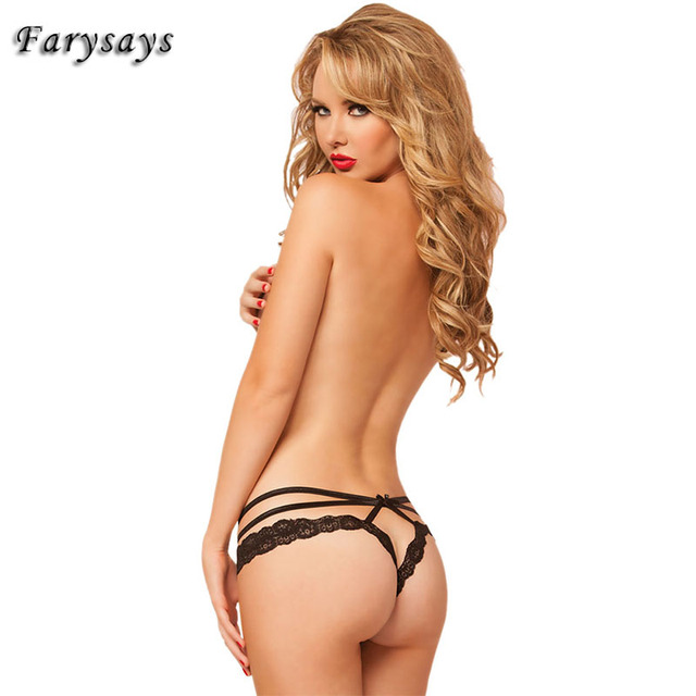 Sexy Strappy Lace Trim Thong 2017 Fashion Women Panties Lingerie Briefs Underwear Thongs G-string Intimates Briefs Underpants