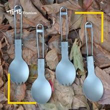 Тито ti spork около столовые среды приборы окружающей titanium удобно вилка