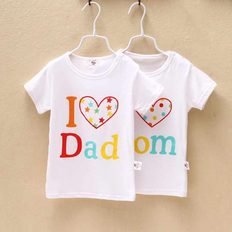 Retail Children's Clothing Letter Pattern Kids' T-shirt Girl's Top Wear Baby Boys' Summer Tee LKC108