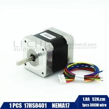 Envío Gratis 1 unids 4-lead Nema17 Stepper Motor 48mm/78Oz-in/1.8a Nema 17 motor 42 BYGH 1.8A (17HS8401) motor