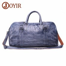цена JOYIR Men's Travel Bag Genuine Leather Men Duffel Bag Luggage Big Capacity Suitcase Tote Bag Vintage Shoulder Weekend Handbag онлайн в 2017 году