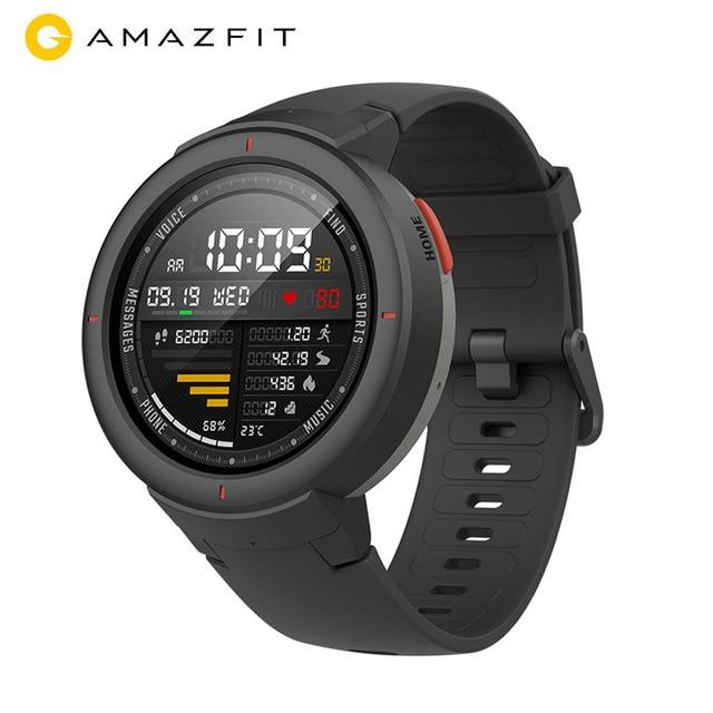 Reloj inteligente Huami Amazfit Verge, 1.3 pulgadas de Pantalla AMOLED Dial & responder llamadas actualizado HR Sensor GPS reloj inteligente apoyo español