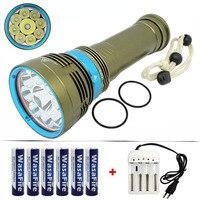 Diving Flashlight 18000 Lumen 7x / 9x XML L2 LED 100 Meters Diver Underwater Waterproof Torch Light Lamp Diving Scuba Flashlight