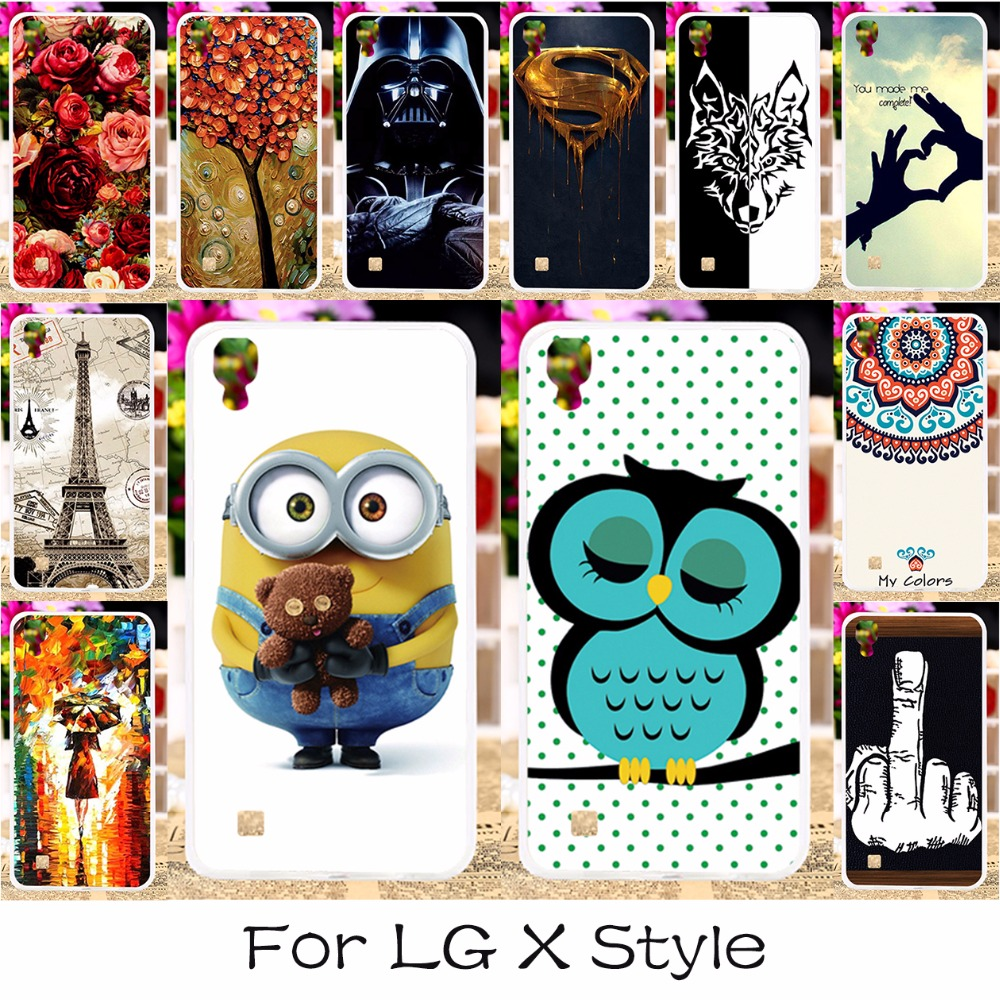 TAOYUNXI 3C Products Store DIY Soft Silicon Mobile Phone Case Cover For LG X Style K200DS X Skin F740L 5.0 inch Shield Back Covers Shell Housing Hood