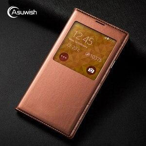 Image 2 - Cassa Del Telefono Del Cuoio Della Copertura di vibrazione Smart View Per Samsung Galaxy S5 SV S 5 G900A G900I G900F G900 G900H G900FD SM G900F SM G900H Caso