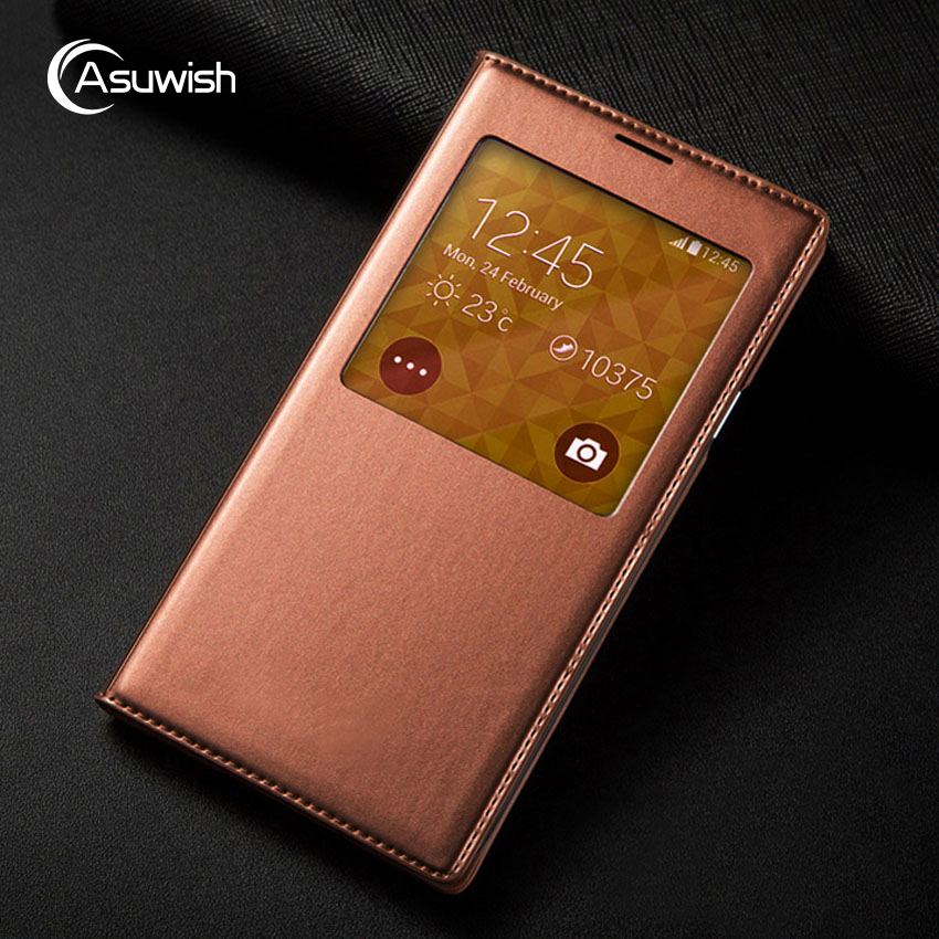 Flip Couverture En Cuir Téléphone Case Smart View Pour Samsung Galaxy S5 S5mini S 5 Mini G800F G800 G800H G900F G900 g900H SM-G900F Cas