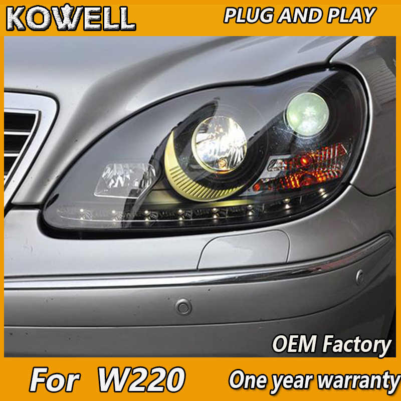 KOWELL Car Styling for Benz S-Class W220 S280 S320 S500 S600 S350 1999-2005 years Headlights fit 2002-2005 year HID/Xenon models