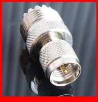 10 pcs RF adapter Mini UHF male to UHF female straight
