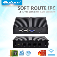 QOTOM Mini PC Q190G4N with 4 Gigabit LAN Ports, preload pfSense Firewall Router, Quad core Mini PC Bay Trail j1900 2.42 GHz