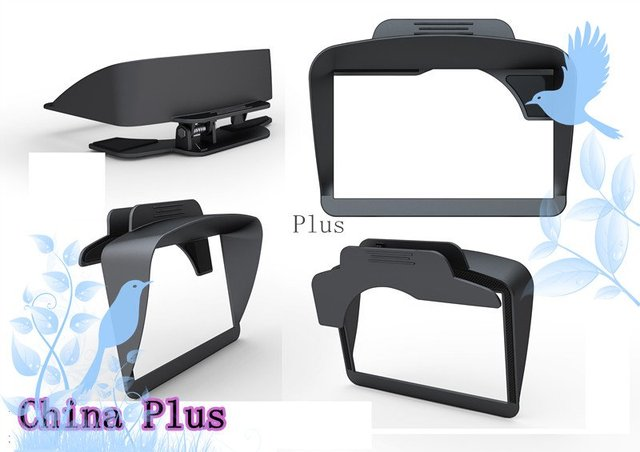 "Free shiping Anti Glare GPS Sun Shade Visor as best partner  for 4.3"",5.0"" GPS Navigation 20pcs/lot"