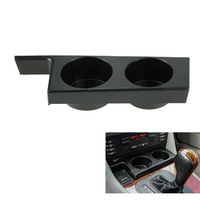 HLEST Premium Car Black Front Cup Holder Fit For BMW E39 5 Series 1997-2003 525i 528i 530i 540i M5 Drinks Holders SA358 T91