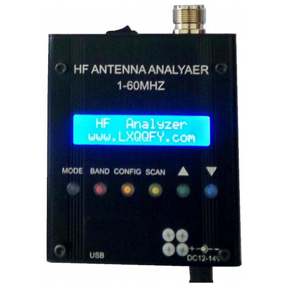 цены NEW MR300 Digital Shortwave Antenna Analyzer Meter Tester 1-60M For Ham Radio