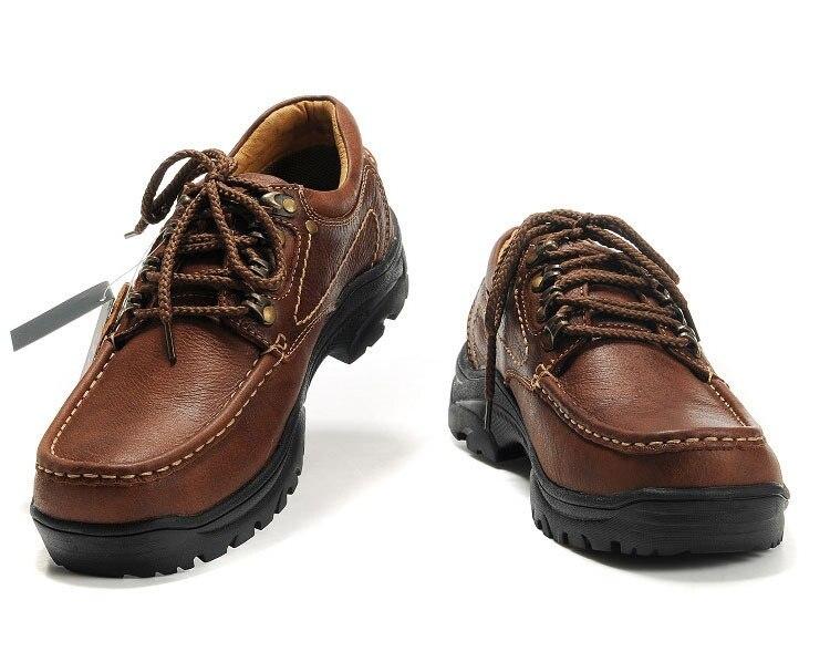 Homens de couro genuíno sapatos ao ar