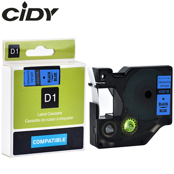 CIDY 50 pcs Black on Blue dymo label tape 12mm*7m 45016 100% compatible dymo label printer for DYMO LM160 LM280 PNP