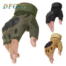 Тактические перчатки без пальцев, военные армейские перчатки для стрельбы, пейнтбола, страйкбола, велосипедного мотокросса, боевые жесткие перчатки на полпальца
