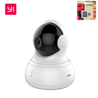 YI Dome Home Camera 360 Degrees 112 Degrees Wide Angle 720P HD Resolution Infrared Night Vision