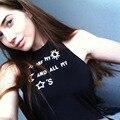Сексуальные Бренди Хлопок Танк Бюстье Фитнес Короткие Crop Топы Холтер Модные Женщины Приключения Время Feminino Camisetas черный