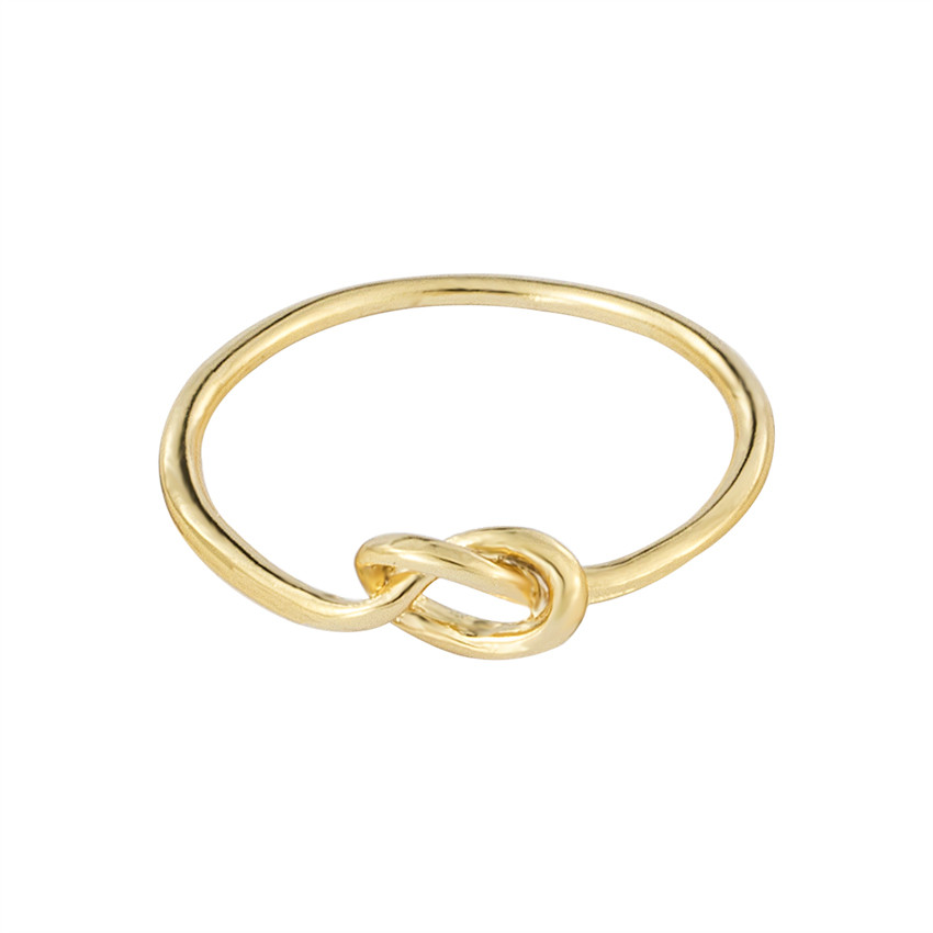 Classic Wedding Jewelry Gold Color Boho Heart Knot Rings For Women Alyans Zinc Alloy Infinity Love Knuckle Rings Men Bijoux