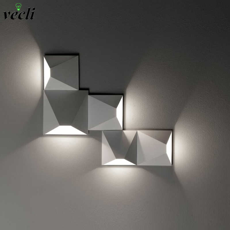 New Postmodern simple creative wall light led bedroom bedside decoration Nordic designer living room corridor hotel wall lamps