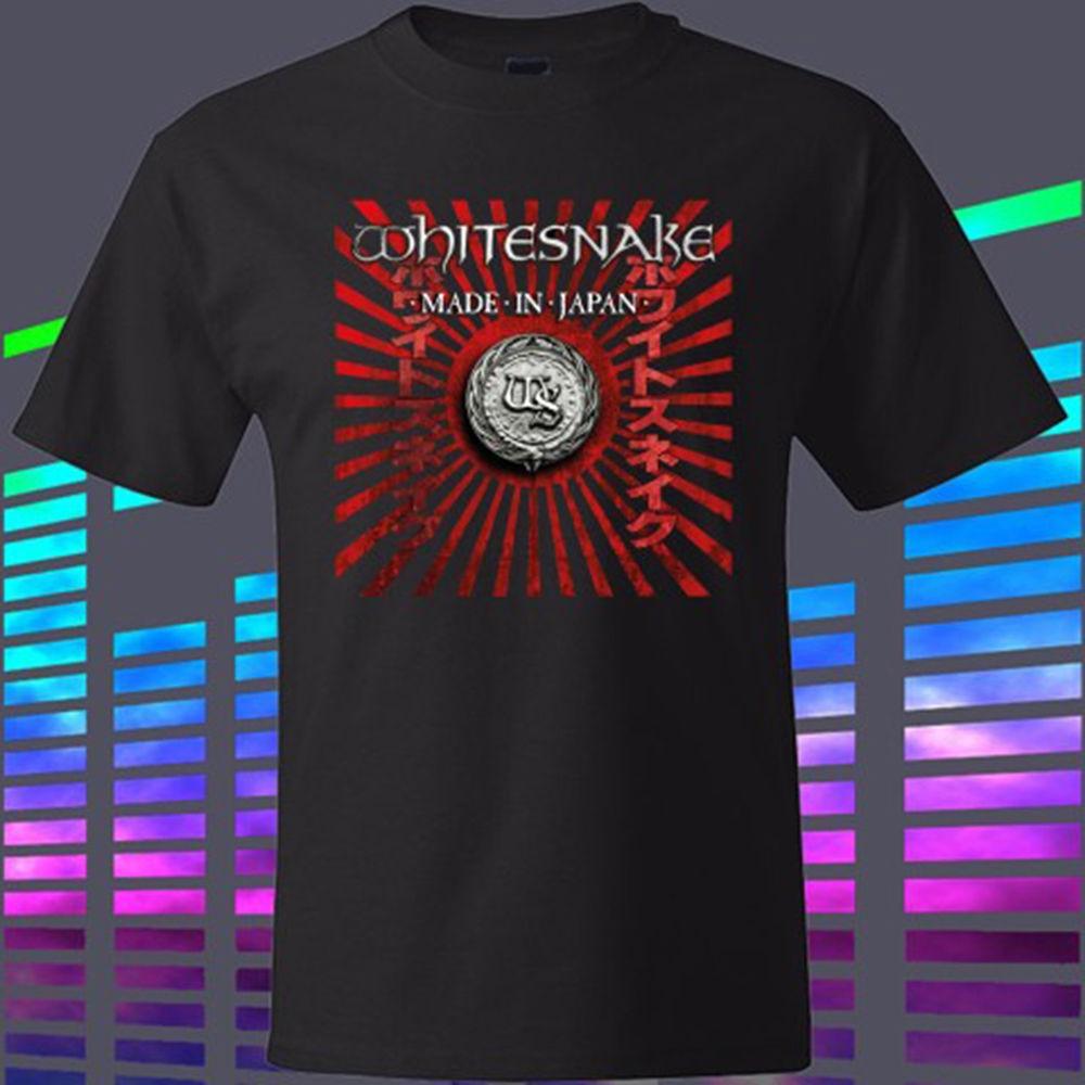 T shirt whitesnake - New Whitesnake Made In Japan Rock Band Legend Men S Black T Shirt Size S To