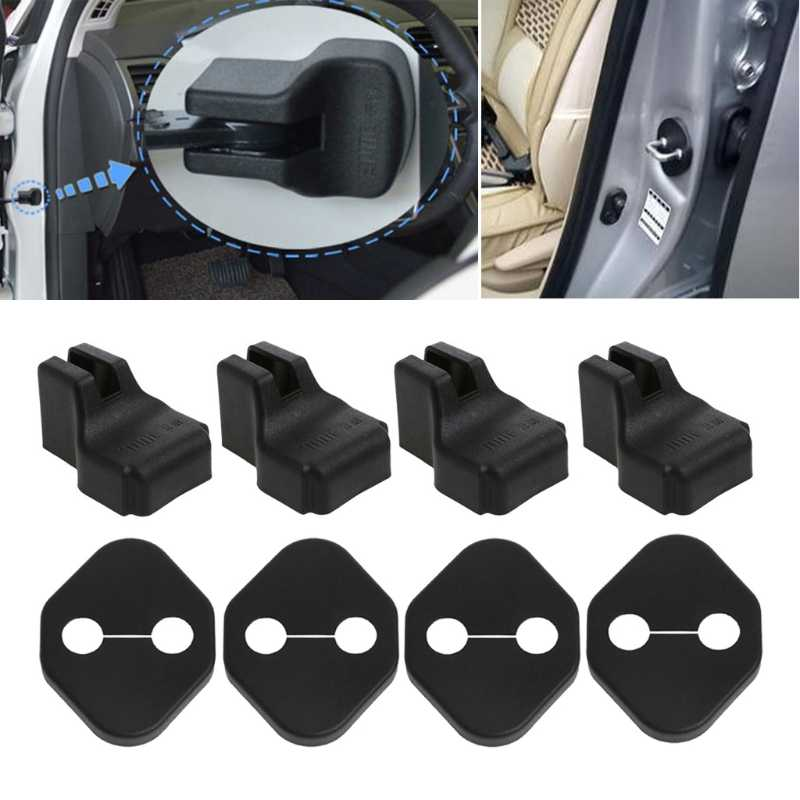Araba-styling Araba Kapı Kilidi Kapağı Stoper Koruma KIA RIO Için K2 Soul Hyundai Solaris Verna