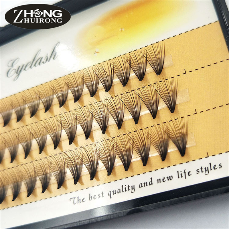 Fashion 60 Tablets Of Handmade Fiber False Eyelashes 20 Roots 0.07C Volume Group Personal Grafting False Eyelashes DM-20