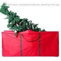 Waterproof Oxford Cloth Xmas Gift Box Foldable Travel Luggage Package Organizer Rolling Tree Bags Christmas Tree Storage Bag