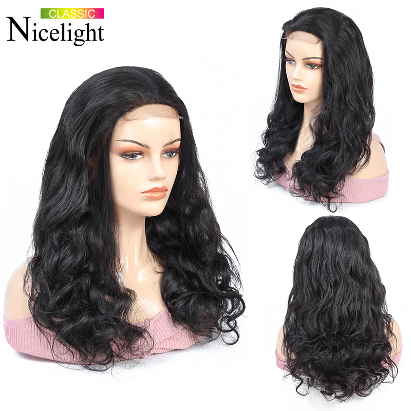 Nicelight Hair Body Wave Wig 4x4 Lace Human Hair Wigs 10-26 Inch Lace Wig 4X4 Closure Wig Indian Hair Wig