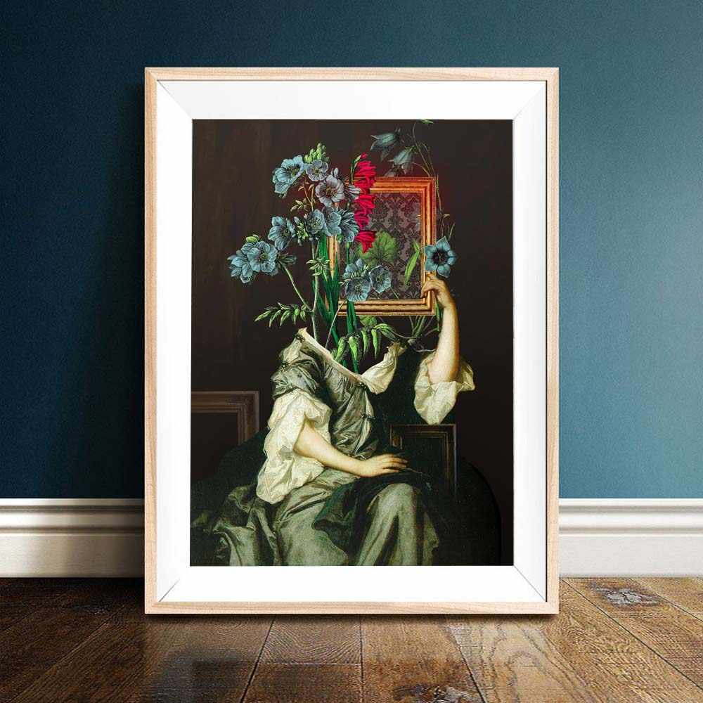 Abstract figure Poster Nordic Posters and Prints Vintage Canvas Painting Flower Wall Art Picture For Living Room Decor For Home