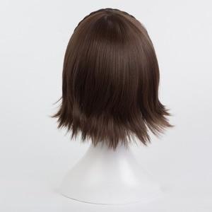 Image 4 - Persona 5 Makoto Niijima Wigs Mixed Brown Hair Cosplay Wig With Braid + Wig Cap