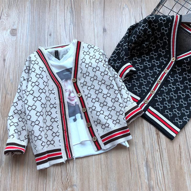 Fashion Parent-child Outfits Family Cardigan Matching Mother & kids jacket clothes for Son Girls Boy
