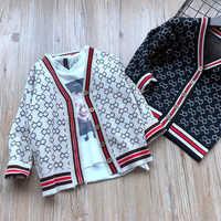 Moda Genitore-bambino Outfits Famiglia Famiglia Cardigan Corrispondenza Abiti Madre e bambini giacca abbigliamento per Madre Figlio Ragazze del Ragazzo