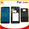 New Original Front+Middle Frame Back Cover Door Full Housing Case Cover+Keypads For Samsung Galaxy S 2 II i9100 Free Shipping