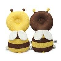 Cartoon Bienen Kopf Schutz Baby Kopf Schutz Infant Nette Wings Anti Crash Pad Stil Baumwolle Kleinkind Kopfstütze Kissen G0323
