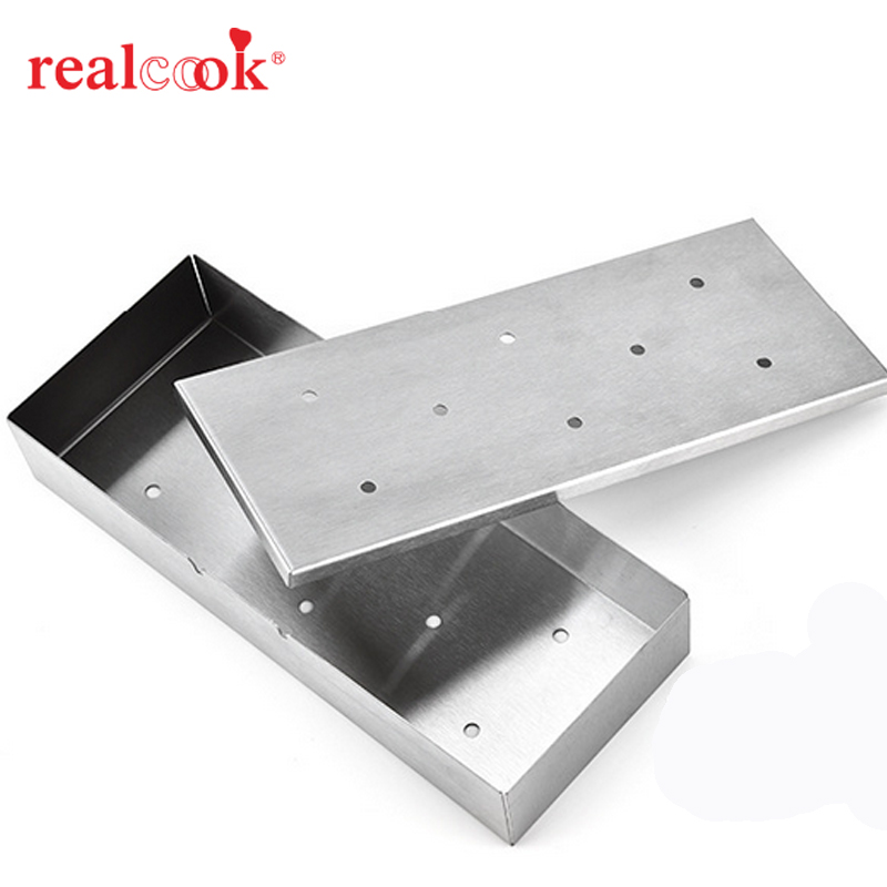 Stainless Steel BBQ Meat Smoking Wood Chip Smoker Box Barbecue Accessories Cold Smoke Generator BBQ Grill Cooking Tools
