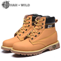 Men Fashion Autumn Winter Ankle Boots Steel Toe Caps Work Safety Shoes Mens Non slip Platform Anti puncture Tooling Boots
