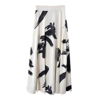 TWOTWINSTYLE Print Split Skirt Ladies High Waist Elastic Large Size X Long Elegant Skirts Female 2019 Spring Summer Tide Clothes 8