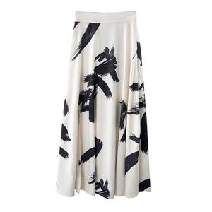 Image 5 - TWOTWINSTYLE طباعة انقسام تنورة السيدات عالية الخصر مرونة كبيرة الحجم X التنانير الطويلة الأنيقة الإناث 2020 الربيع الصيف المد الملابس