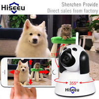 Hiseeu אבטחת בית IP המצלמה אלחוטי Wi-Fi חכם כלב מעקב 720 P ראיית לילה טלוויזיה במעגל סגור מקורה מצלמה wifi בייבי מוניטור FH4