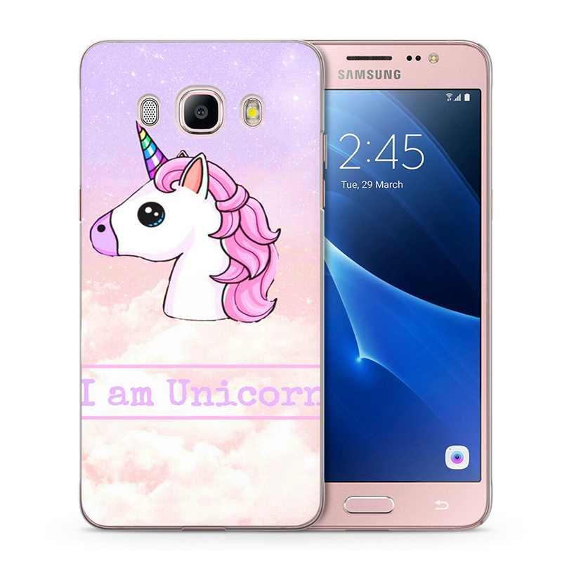 Для Samsung Galaxy A5 2016 2015 2017 prime J1 J2 J3 J5 J7 G530H S8/plus Note 8 термополиуретановый силиконовый чехол милый рисунок единорога чехол C101