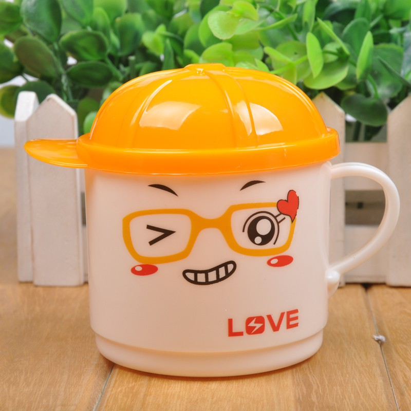 New 1Pcs Safety PP Plastic 200ml Colourful Cute Cartoon Baby Kids Cute Milk Water Tea Cup Mug Random Send new cute cartoon kitty cat mug glass cup with lid office creative student tea